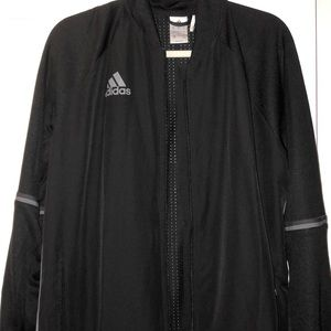 Black with gray stripes adidas climacool fullzip
